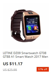 Black Friday 2017 na Aliexpress.com - smartwatch