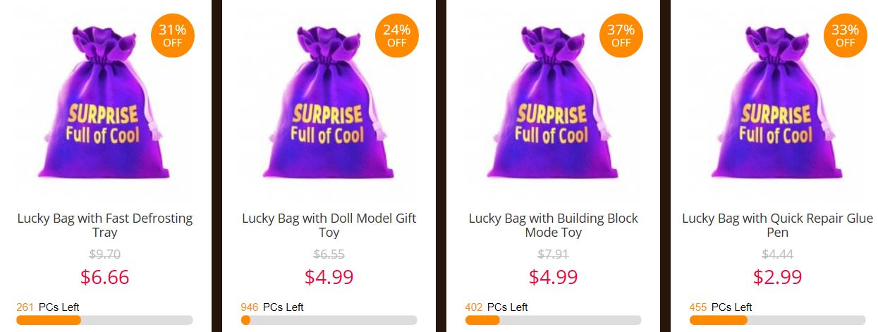 Cyber Monday w GearBest - Lucky Bags