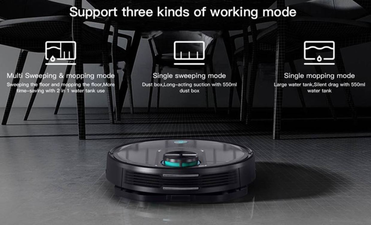 Xiaomi Viomi V2 PRO robot vacuum cleaner - mopping and vacuuming functions