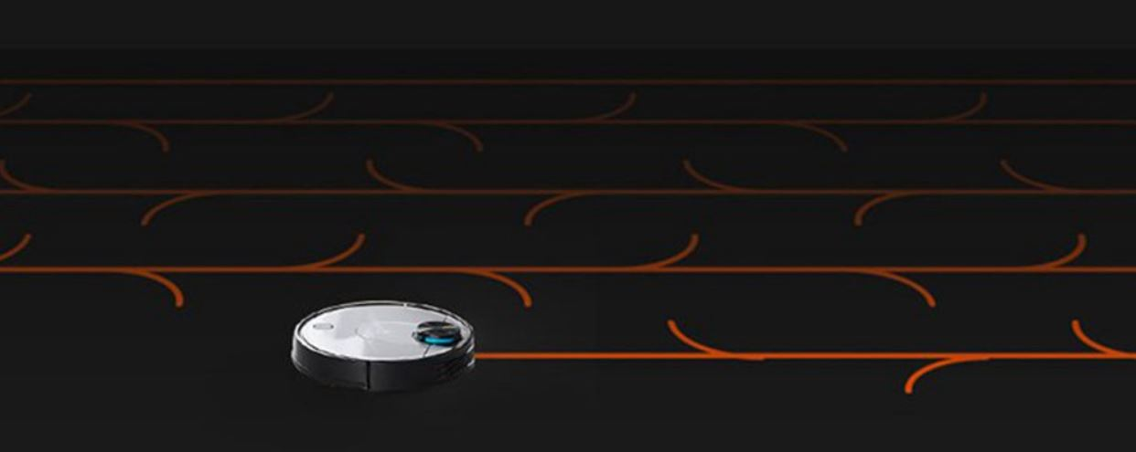 Xiaomi Viomi V2 PRO robot vacuum cleaner - a way of driving while mopping