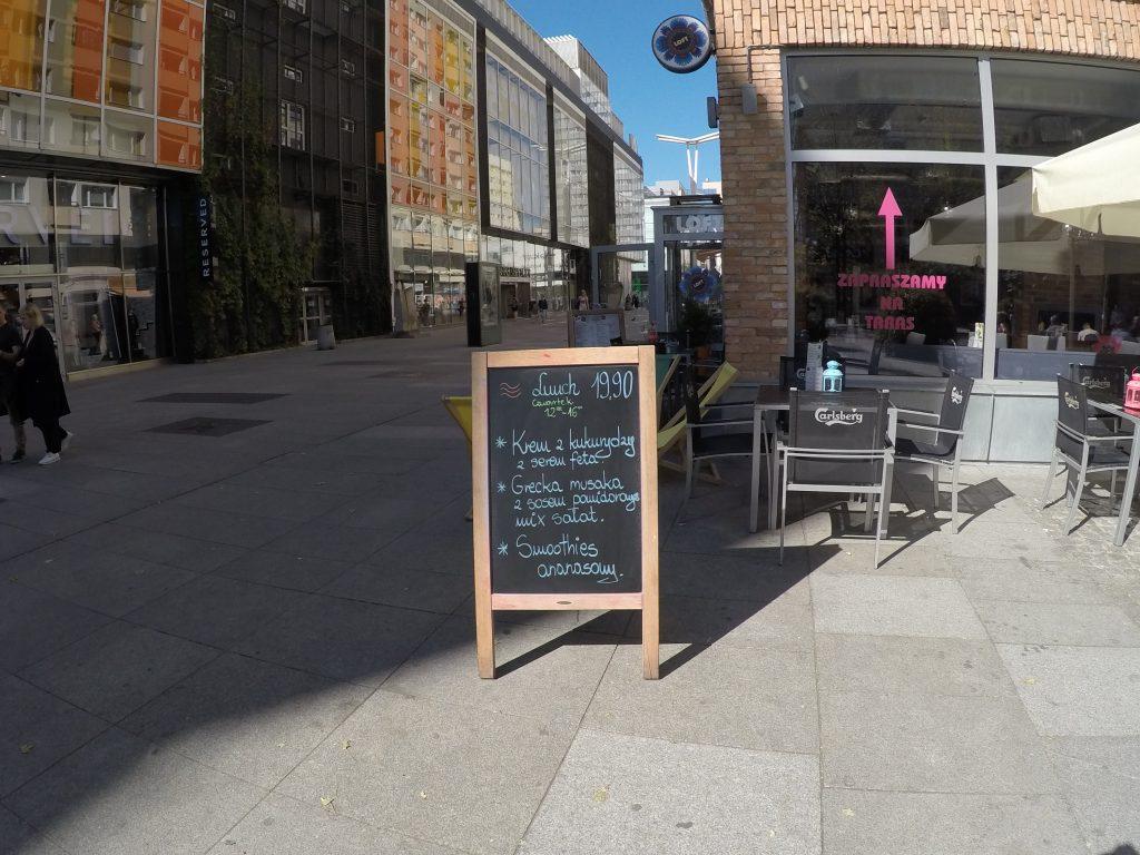 Lunch menu - Loft, Pasaż Wiecha - 7 zasad taniego jedzenia na mieście