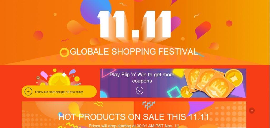 Global shopping festival na aliexpress.com