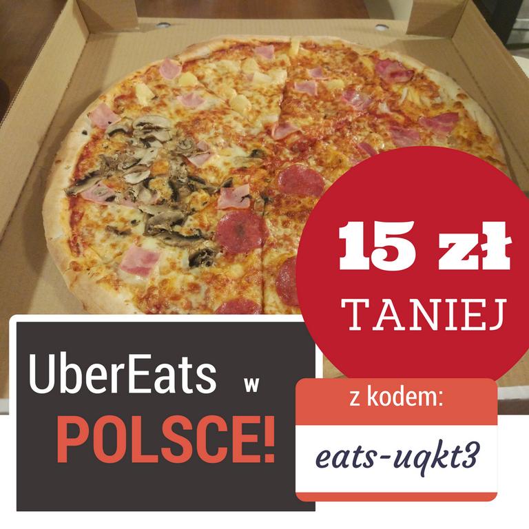 UberEats 15 zł taniej - kod promocyjny