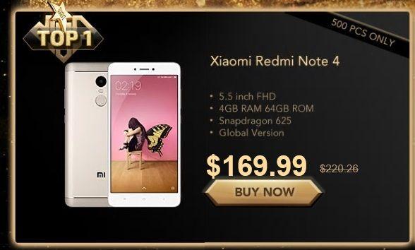promocje 12.12 na Gearbest - Xiaomi Redmi Note 4