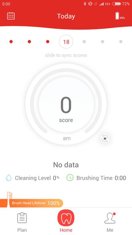 statystyki w aplikacji - Recenzja Oclean SE - najnowszej szczoteczki sonicznej od Xiaomi