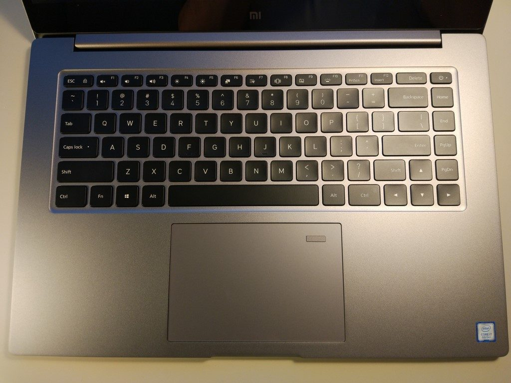 Xiaomi Mi Notebook Pro - recenzja chińskiego MacBooka - klawiatura