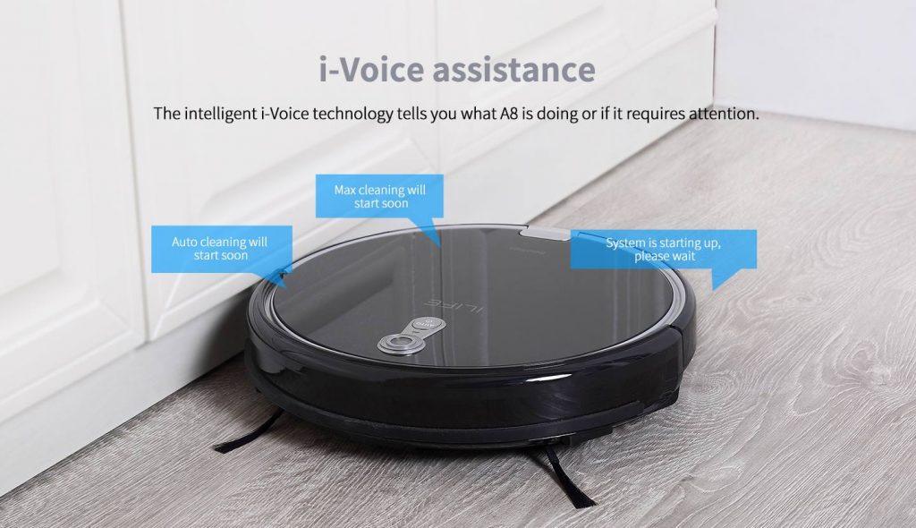 iLife A8 - najnowszy robot sprzątający z Chin - komunikaty głosowe