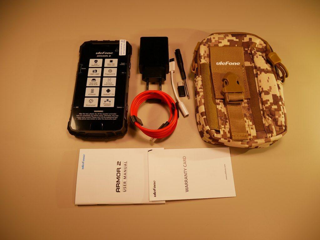 Recenzja Ulefone Armor 2 - pancernego smartfona z Chin - kompletny zestaw z Gearbest