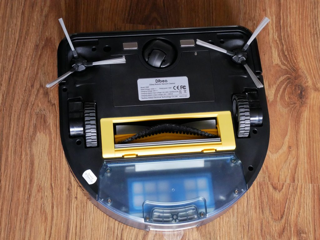 bezprzeplacania.pl - robot odkurzający Dibea D960 - robot od spodu