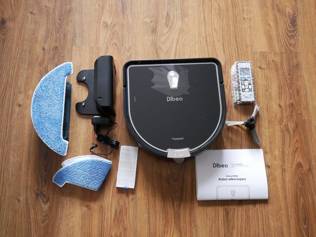 bezprzeplacania.pl - robot odkurzający Dibea D960 - zawartość pudełka