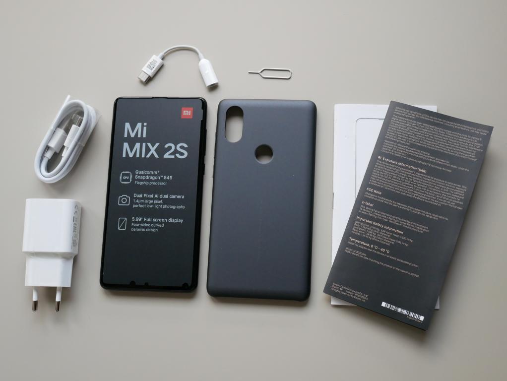 Xiaomi Mi Mix 2s - recenzja - zawartość zestawu