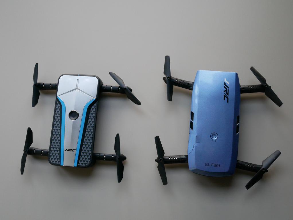 porównanie rozmiarów drona z JJRC H47 Elfie + - recenzja JJRC H62 Splendor