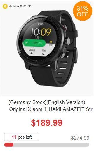 6. urodziny Geekbuying - promocja Xiaomi HUAMI AMAZFIT Stratos z europejskiego magazynu