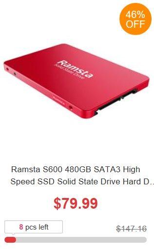 6. urodziny Geekbuying - promocja dysku SSD 480 GB