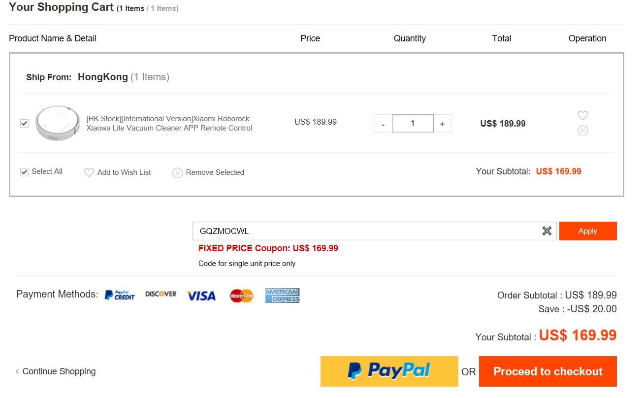 bezprzeplacania.pl - zakup Xiaowa Xiaomi Mi Robot z geekbuying