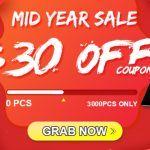 mid-year sale banggood - coupons