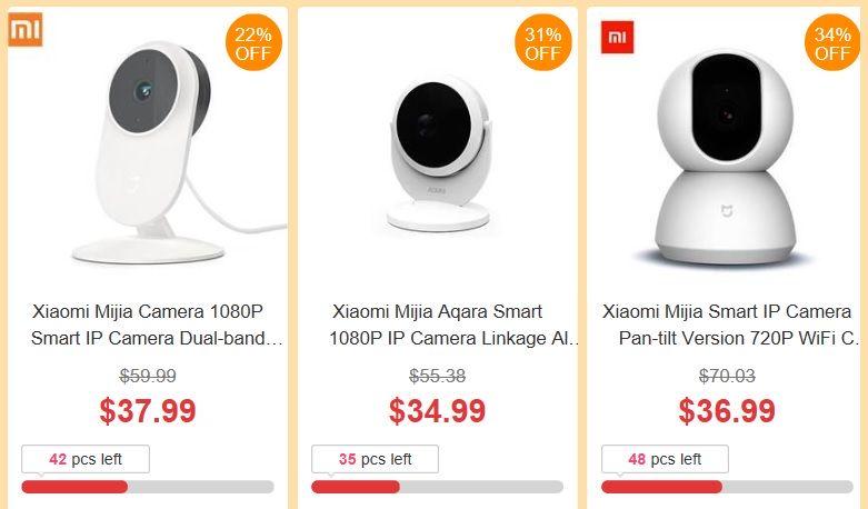 promocja urodzinowa geekbuying - kamery do domowego monitoringu od Xiaomi