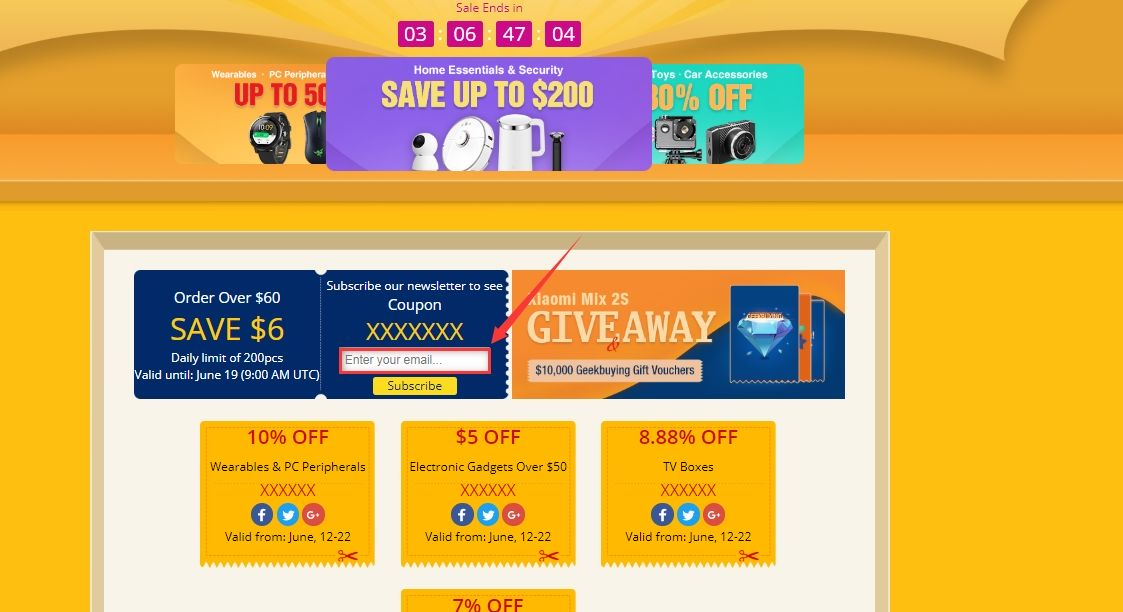 promocja urodzinowa geekbuying - kod rabatowy za zapis do newslettera