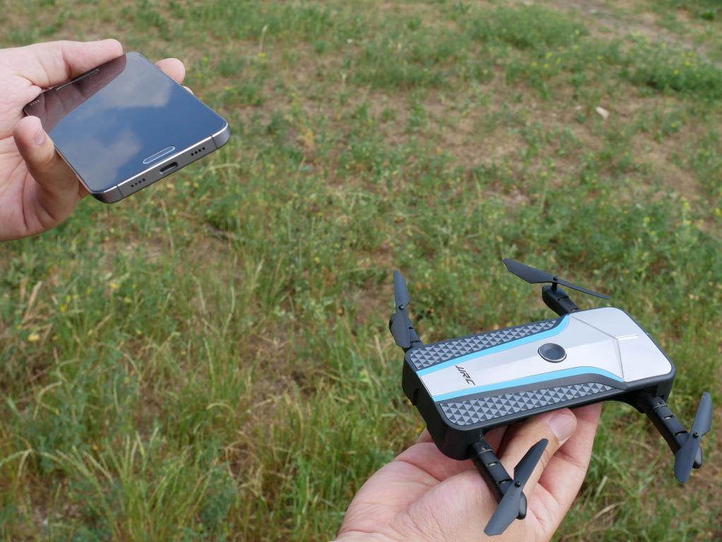 sterowanie dronem telefonem - recenzja JJRC H62 Splendor