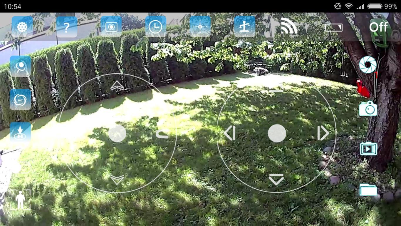 widok z aplikacji - recenzja JJRC H62 Splendor