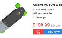 Promocja pojazdów elektrycznych geekbuying.com - Xiaomi ACTON E-board