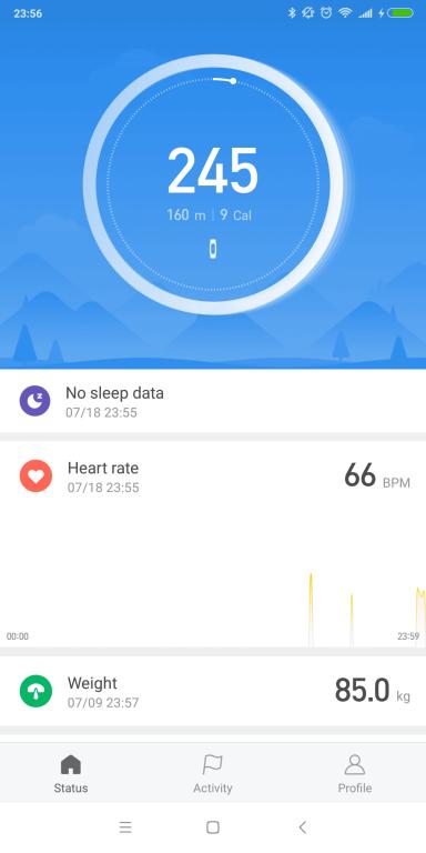 Recenzja opaski sportowej Xiaomi Mi Band 3 - screen z aplikacji Mi Fit - podsumowanie