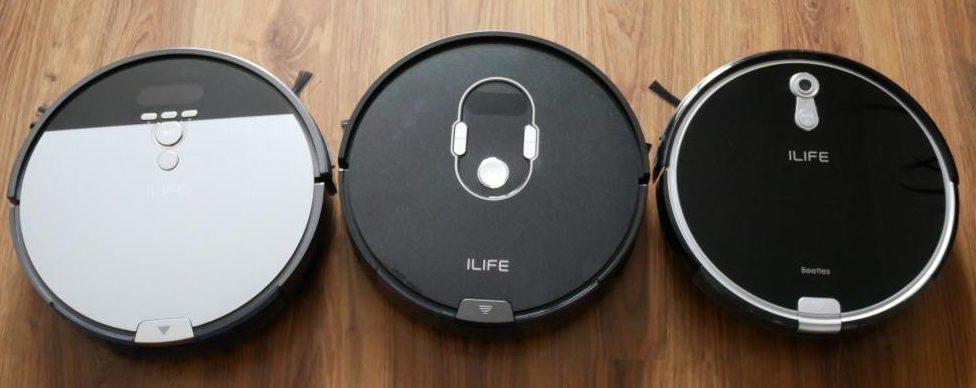 iLife A7 - recenzja robota sprzatającego sterowanego smartfonem - porównanie z iLife V8S i iLife A8