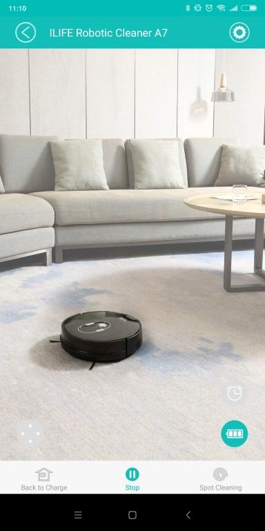 iLife A7 - recenzja robota sprzatającego sterowanego smartfonem - screen z aplikacji iLife Robot