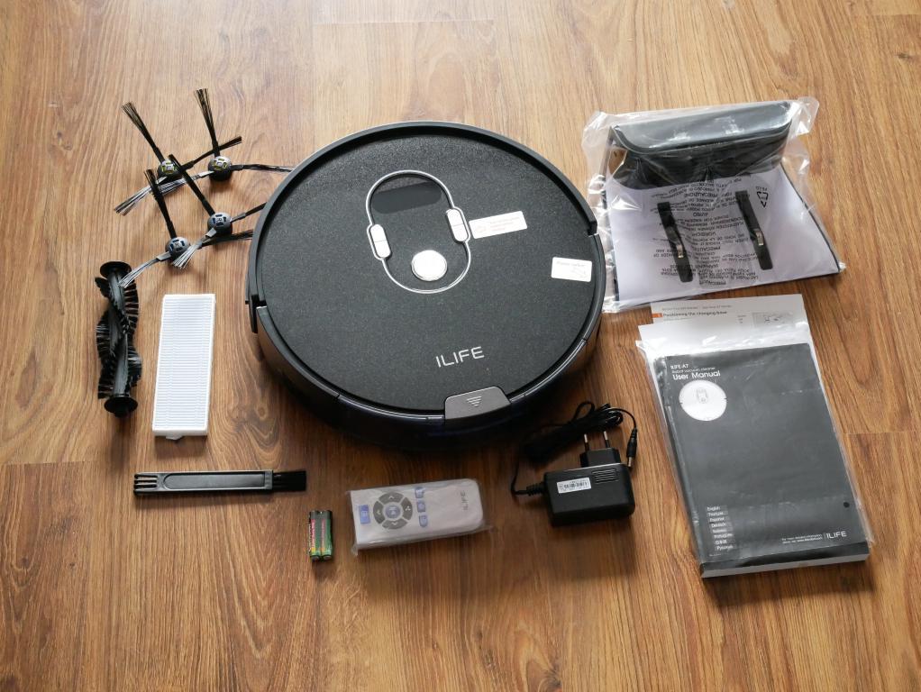 iLife A7 - recenzja robota sprzatającego sterowanego smartfonem - zestaw