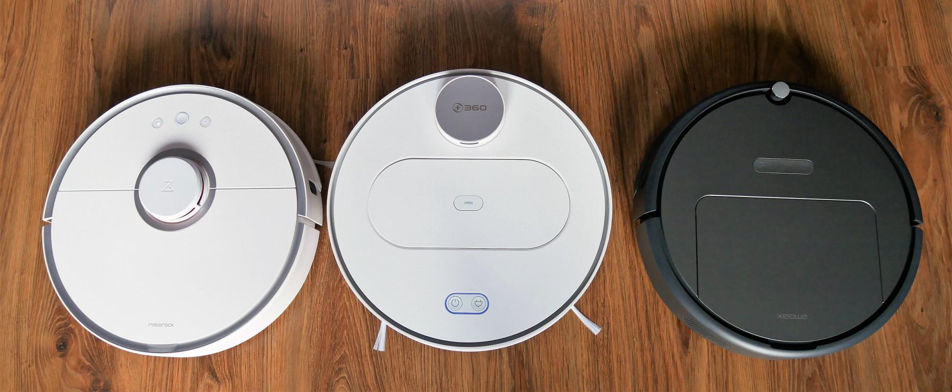 porównianie robotów odkurzających - Roborock S50 vs 360 S6 vs Xiaowa Roborock E352