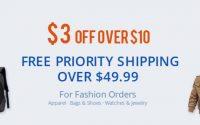 Bezpłatna wysyłka Priority Line na wszystkie ubrania z Gearbest - promocja
