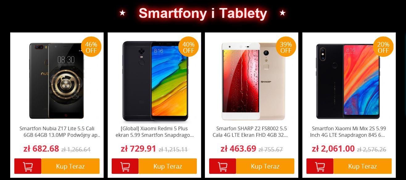 Black Friday w polskim magazynie GeekBuying - smartfony i tablety