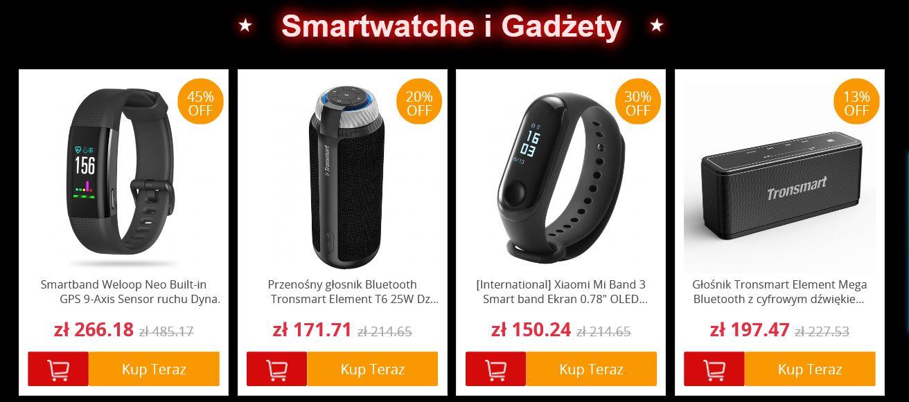 Black Friday w polskim magazynie GeekBuying - smartwatche i gadżety