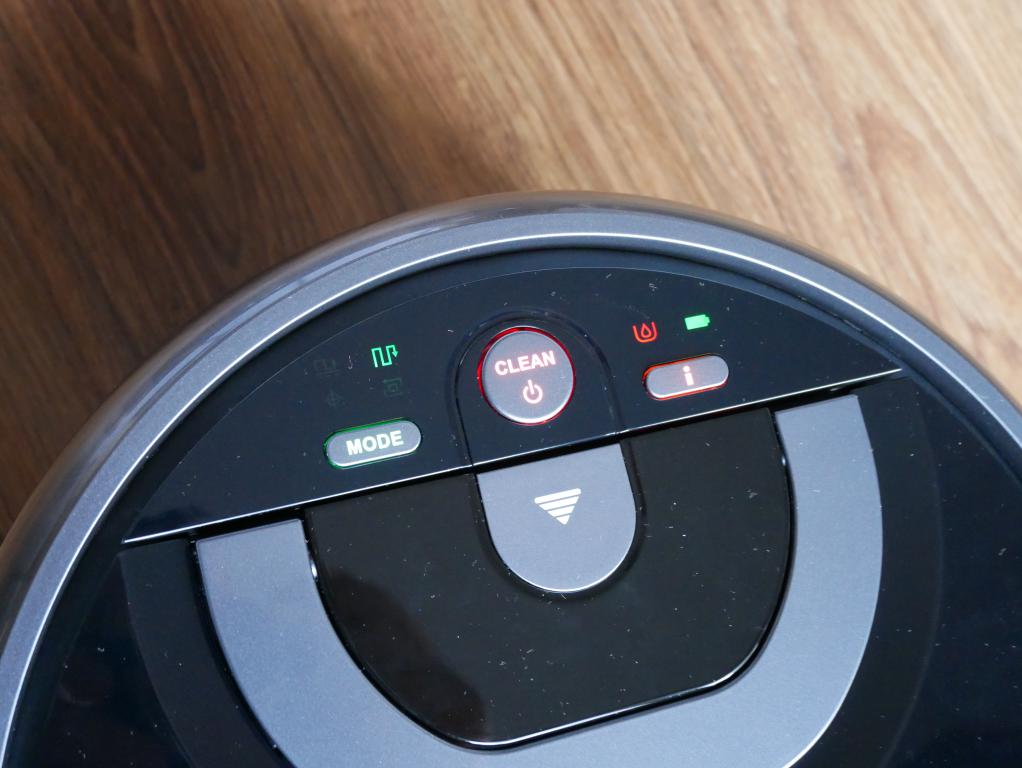 iLife W400 - recenzja robota do mycia podłóg - diody wyświetlacza
