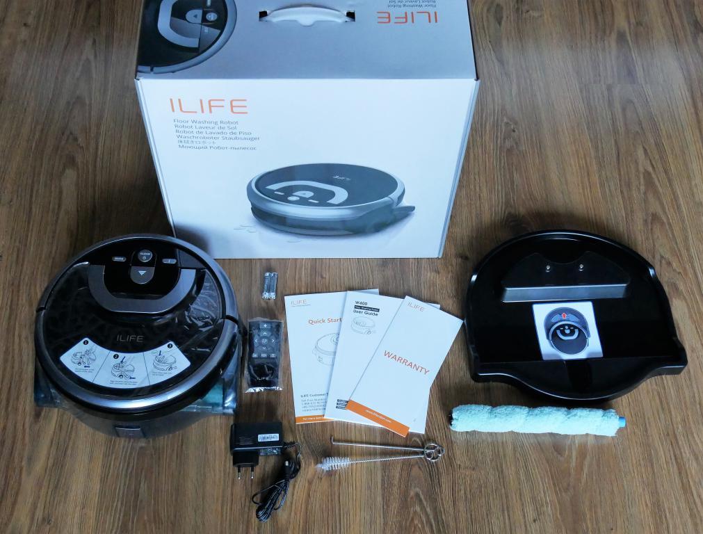 iLife W400 - recenzja robota do mycia podłóg - zestaw