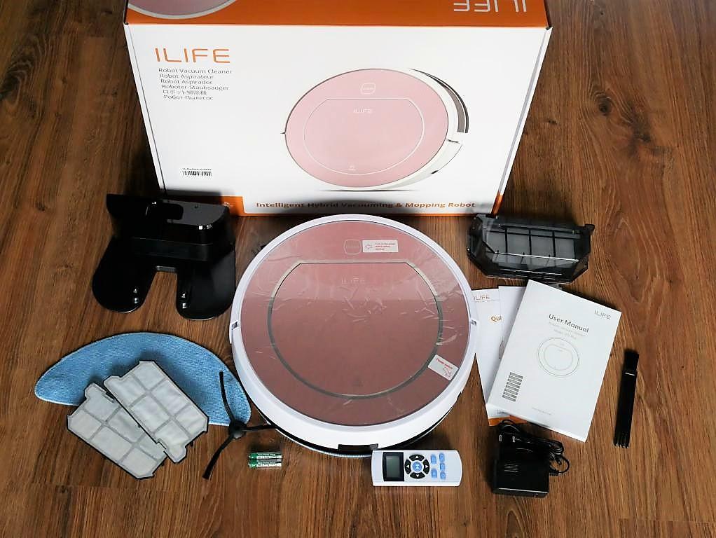 iLife V7S Plus - recenzja robota odkurzającego z mopem - zawartość zestawu