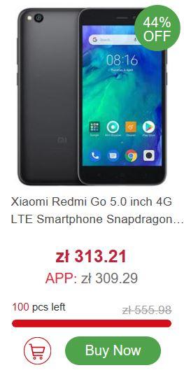 Marcowa wyprzedaż geekbuying.com - Xiaomi Redmi Go