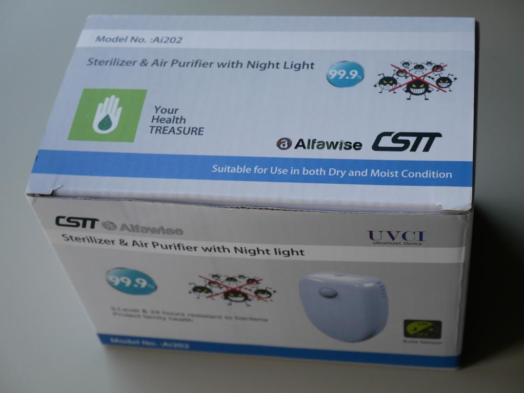 Oczyść powietrze za 100 zł z Alfawise Ai 202 - recenzja - pudełko z oczyszczaczem
