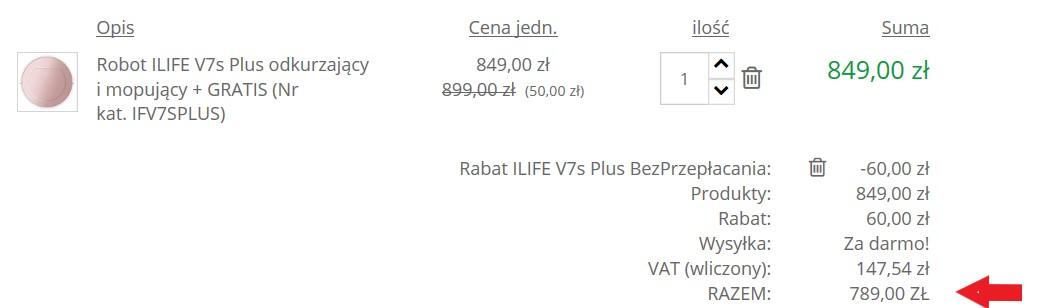 promocja ilife v7s Plus - cena po kodzie rabatowym