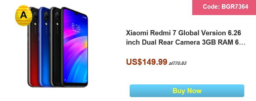 Wielkanocna wyprzedaż na Banggood.com - Xiaomi Redmi 7 Global