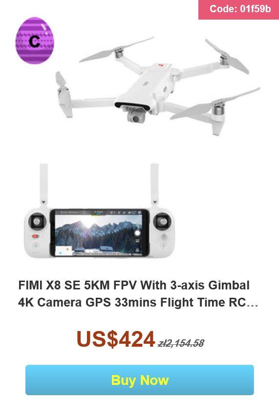 Wielkanocna wyprzedaż na Banggood.com - promocja drona FIMI X8 SE