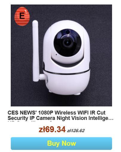 Wielkanocna wyprzedaż na Banggood.com - promocja kamery do monitoringu IP CES News