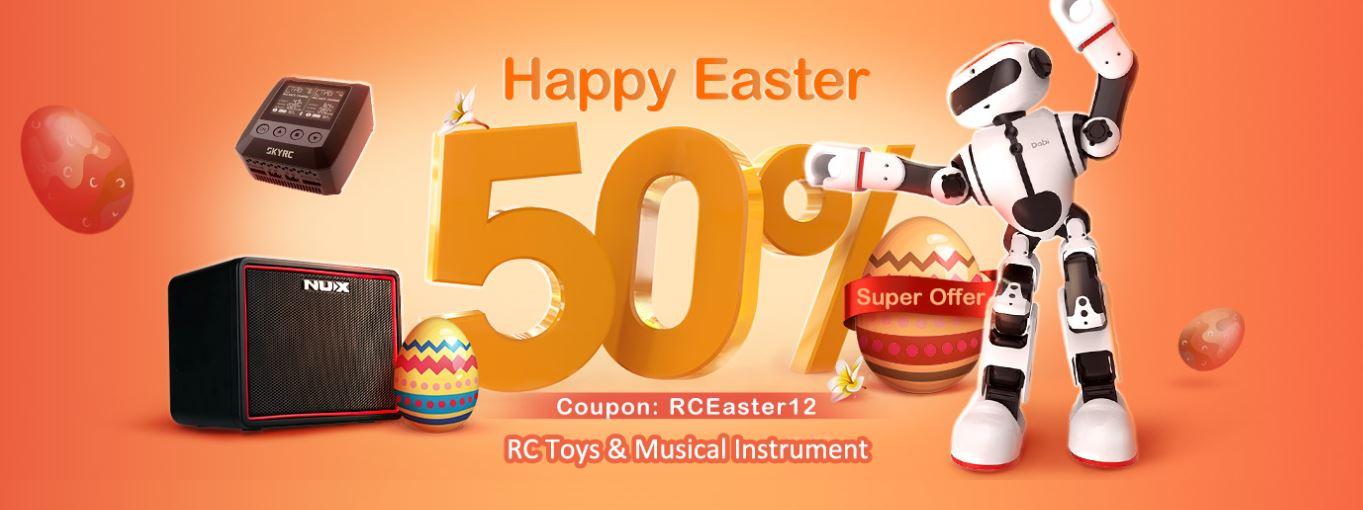 Wielkanocna wyprzedaż na Banggood.com - promocja zabawek RC i instrumentów muzycznych