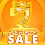 Świetne kody rabatowe z okazji 7. urodzin geekbuying.com - logo promocji