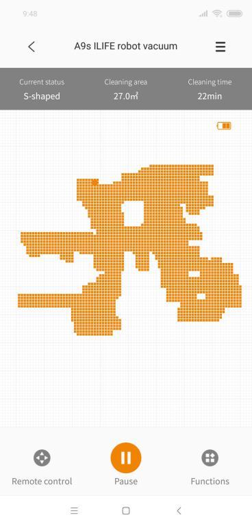 iLife A9S – recenzja robota odkurzającego - aplikacja iLife Robot - mapowanie pomieszczeń