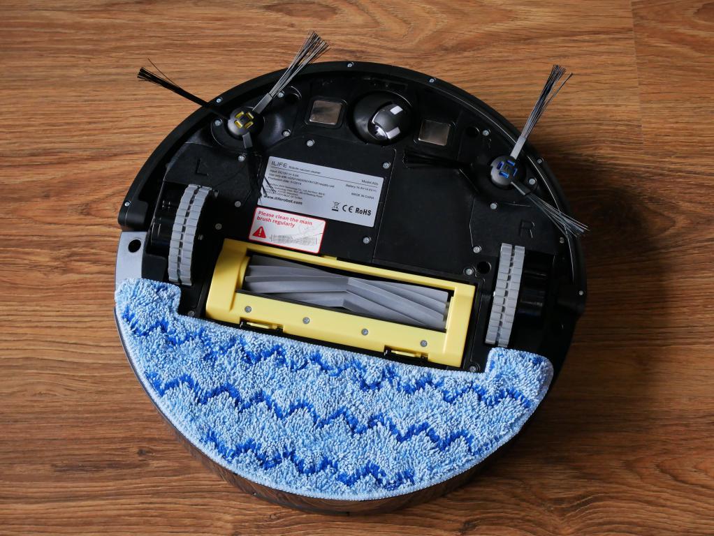 iLife A9S – recenzja robota odkurzającego - spód robota - mopowanie