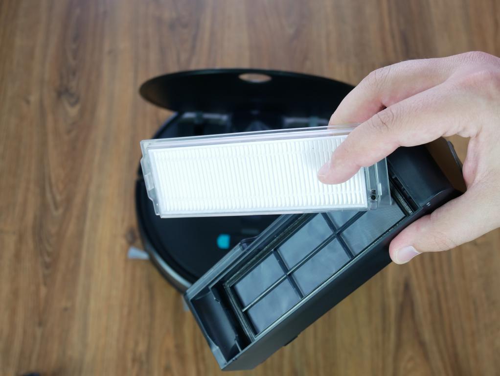 recenzja robota odkurzającego Xiaomi Viomi V2 - filtr HEPA
