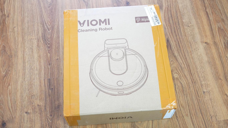 recenzja robota odkurzającego Xiaomi Viomi V2 - pudełko z robotem