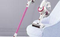Różowy odkurzacz pionowy - Xiaomi Jimmy JV53 - odkurzanie dywanów i tapicerki