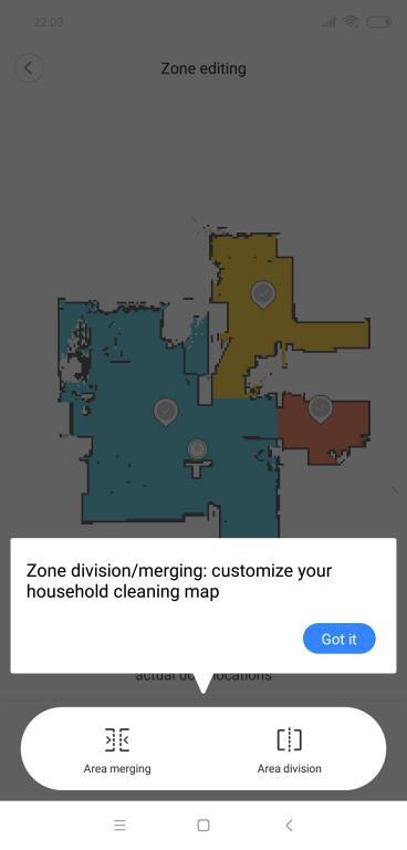 Roborock S6 - recenzja robota odkurzającego najnowszej generacji - dzielenie pomieszczeń na mapie w aplikacji Mi Home